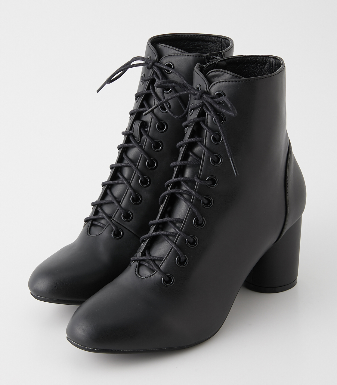 LACE UP HEEL BOOTS/レースアップヒールブーツ 詳細画像 BLK 1