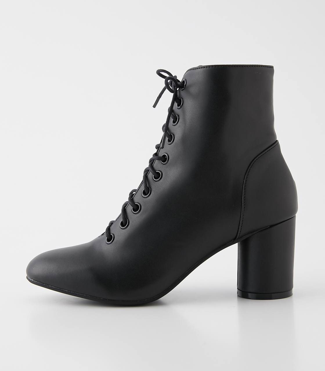 LACE UP HEEL BOOTS/レースアップヒールブーツ 詳細画像 BLK 2