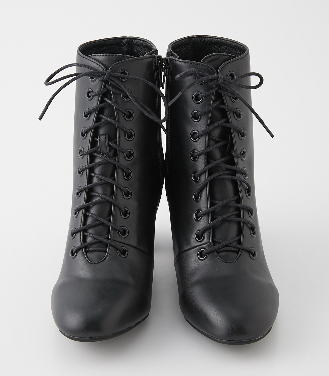 LACE UP HEEL BOOTS/レースアップヒールブーツ 詳細画像 BLK 3