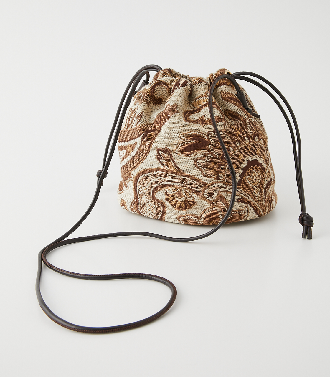 PAISLEY JACQUARD GATHER BAG/ペイズリージャガードギャザーバッグ 詳細画像 柄BEG 2