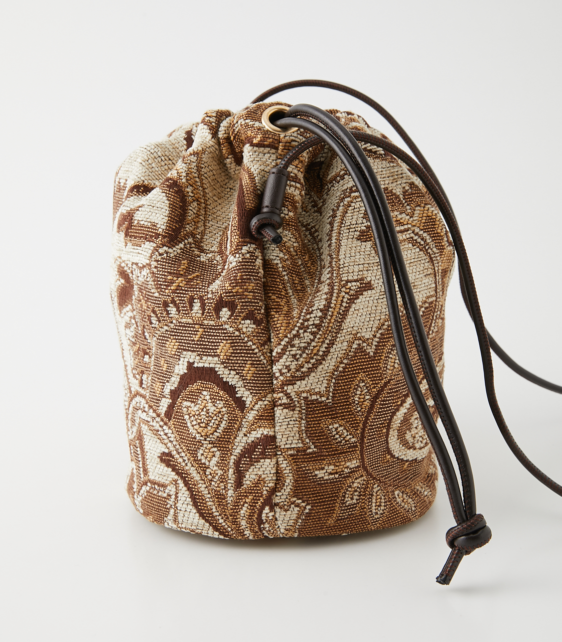 PAISLEY JACQUARD GATHER BAG/ペイズリージャガードギャザーバッグ 詳細画像 柄BEG 3