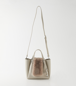 ECO FUR FLAP TOTE BAG/エコファーフラップトートバッグ