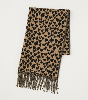 HEART LEOPARD STOLE/ハートレオパードストール