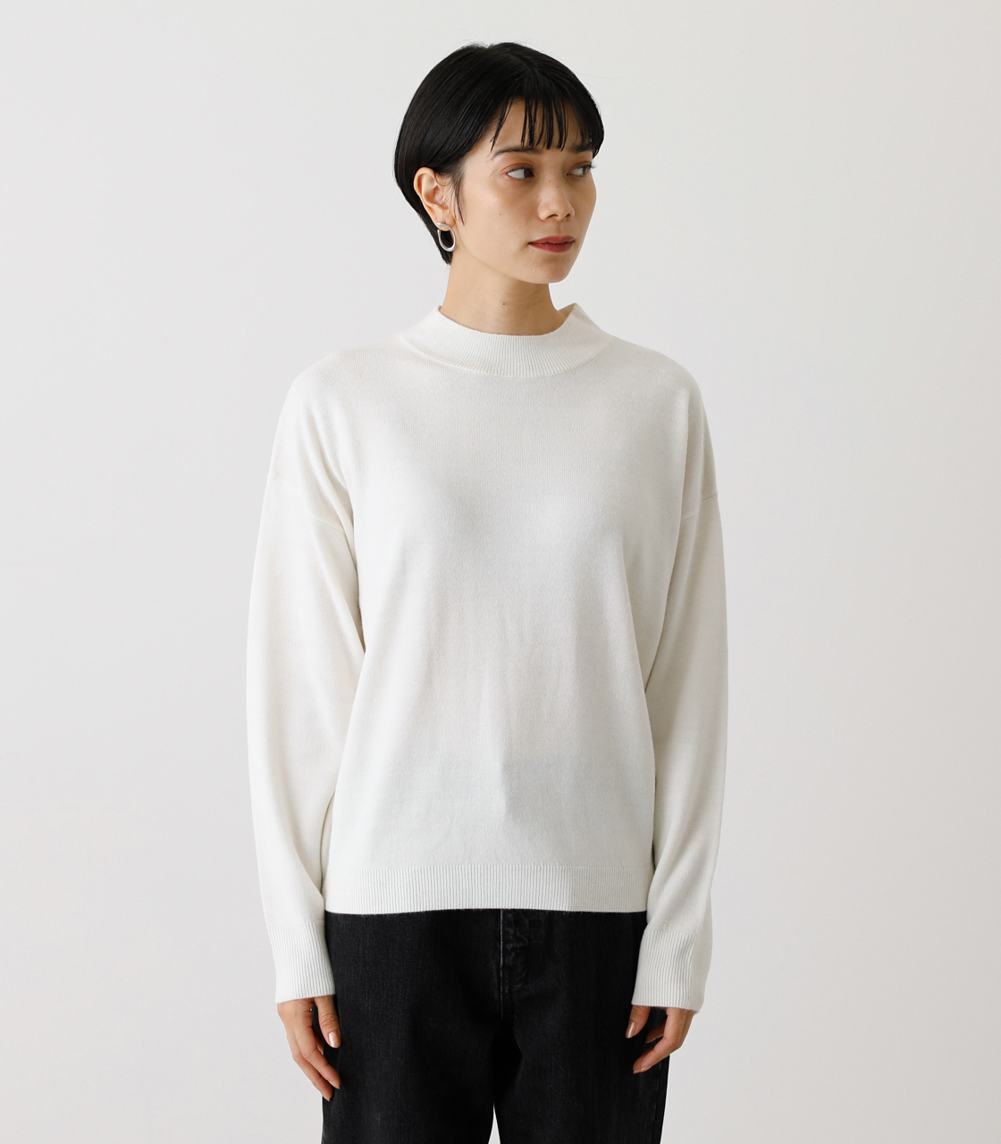 NUDIE H/N KNIT TOPS/ヌーディーハイネックニットトップス【MOOK53掲載 90022】 詳細画像 O/WHT 5