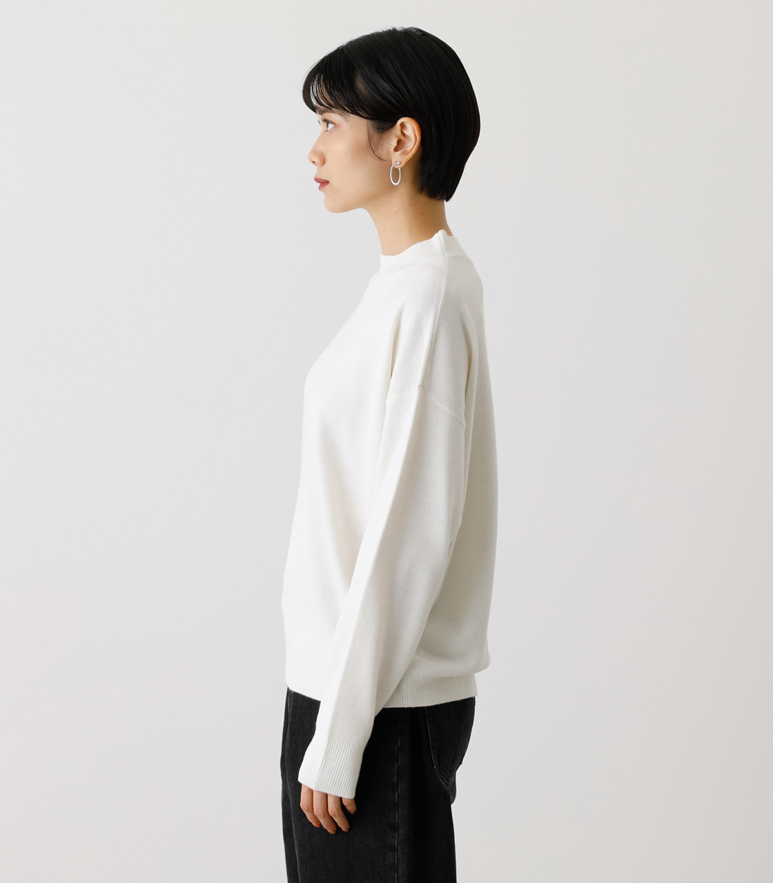 NUDIE H/N KNIT TOPS/ヌーディーハイネックニットトップス【MOOK53掲載 90022】 詳細画像 O/WHT 6