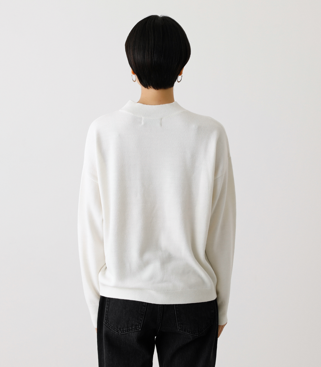 NUDIE H/N KNIT TOPS/ヌーディーハイネックニットトップス【MOOK53掲載 90022】 詳細画像 O/WHT 7