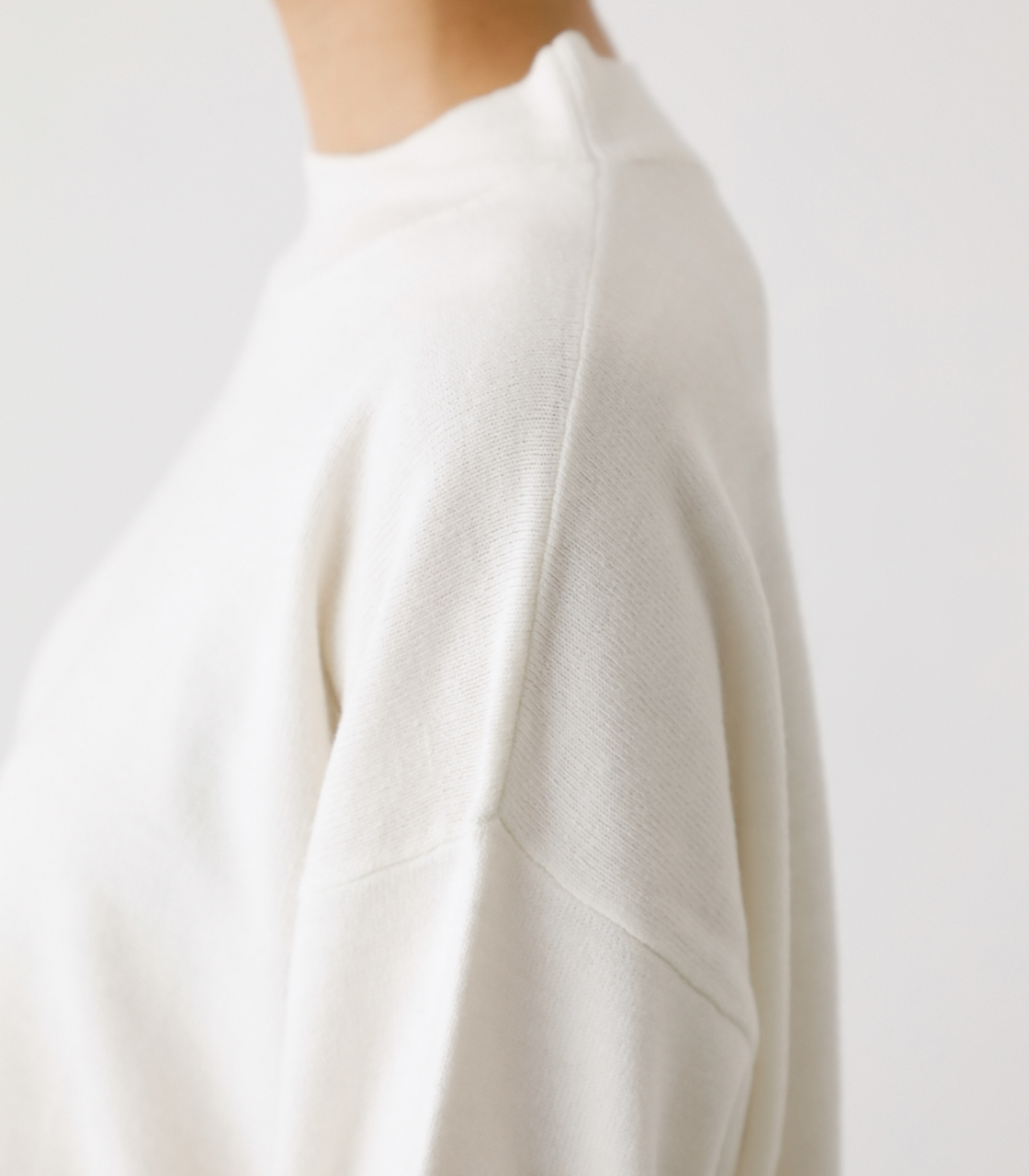 NUDIE H/N KNIT TOPS/ヌーディーハイネックニットトップス【MOOK53掲載 90022】 詳細画像 O/WHT 9