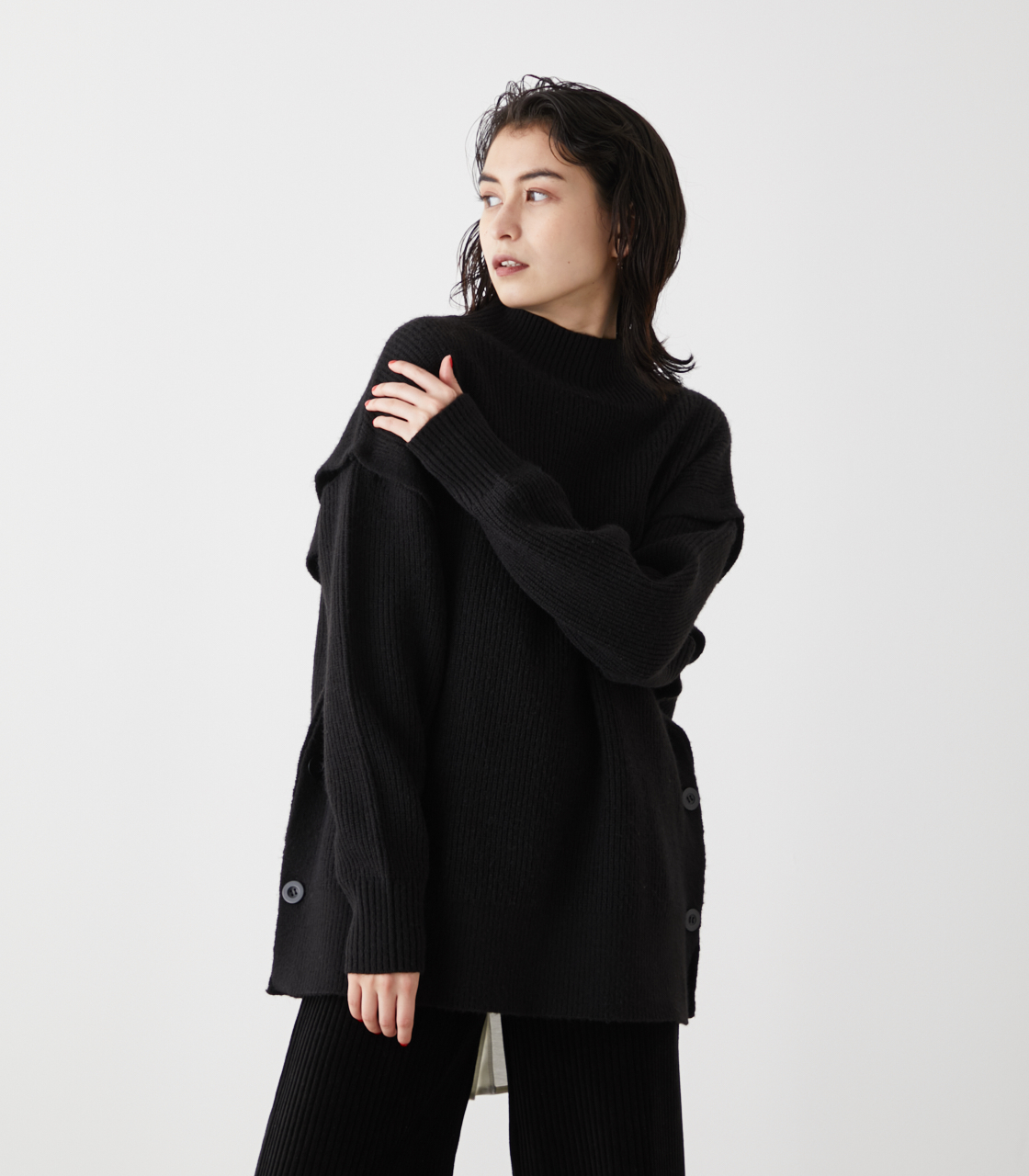 2WAY SLEEVE REMOVABLE TOPS/2WAYスリーブリムーバブルトップス 詳細画像 BLK 1