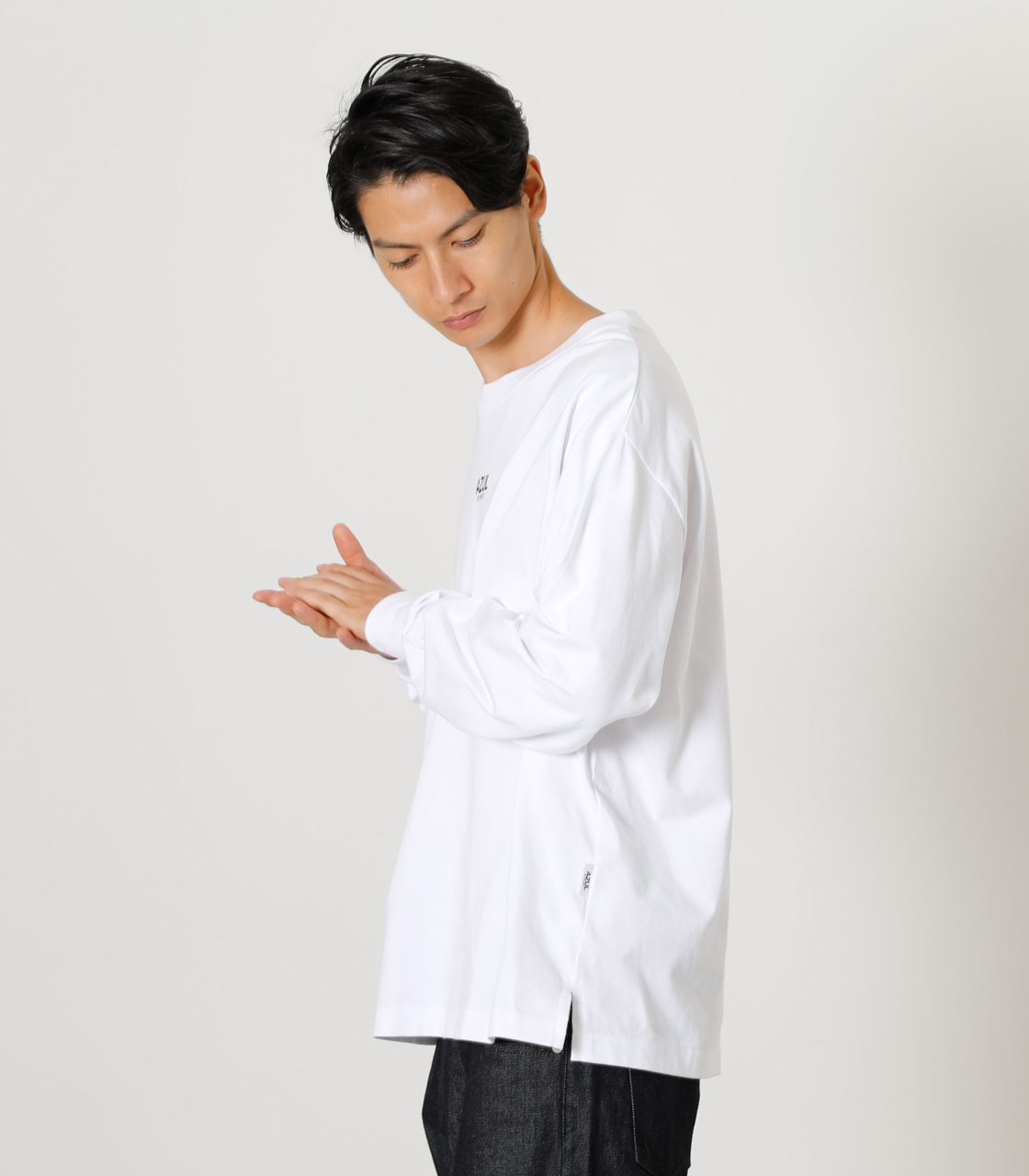 ONS SIMPLE LOGO TEE/ONSシンプルロゴTシャツ 詳細画像 WHT 12