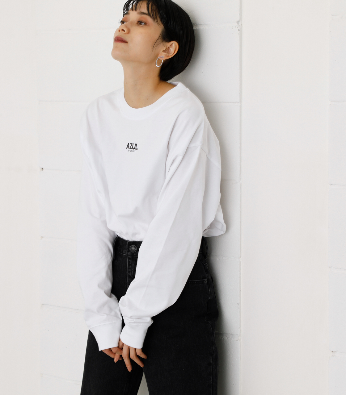 ONS SIMPLE LOGO TEE/ONSシンプルロゴTシャツ 詳細画像 WHT 3