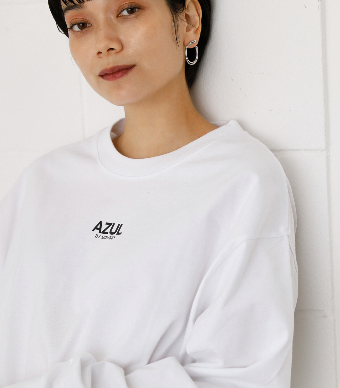ONS SIMPLE LOGO TEE/ONSシンプルロゴTシャツ 詳細画像 WHT 4