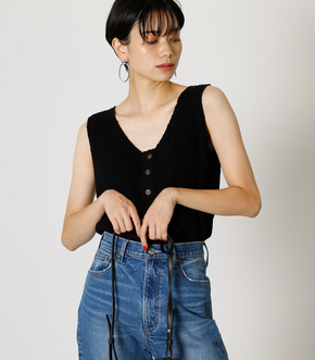 FRONT BUTTON KNIT TANK/フロントボタンニットタンク