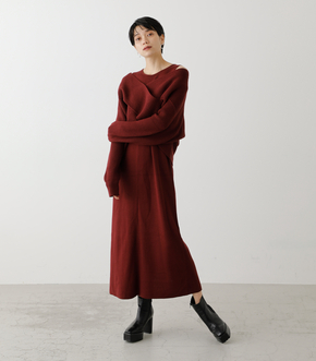 TWIST LAYERED ONE-PIECE/ツイストレイヤードワンピース