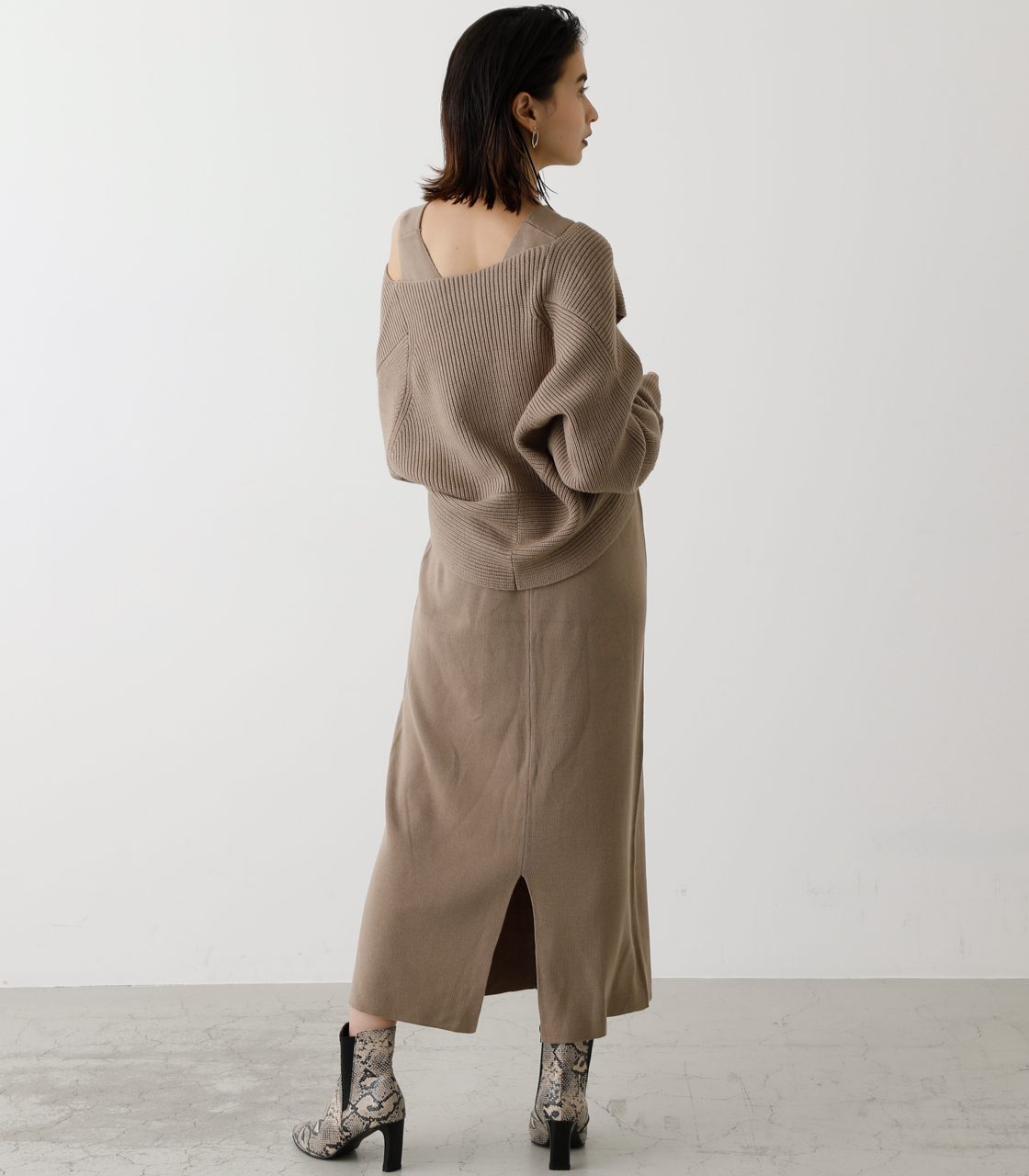 TWIST LAYERED ONE-PIECE/ツイストレイヤードワンピース 詳細画像 BEG 2