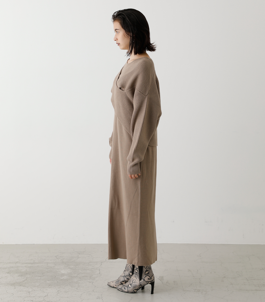 TWIST LAYERED ONE-PIECE/ツイストレイヤードワンピース 詳細画像 BEG 6