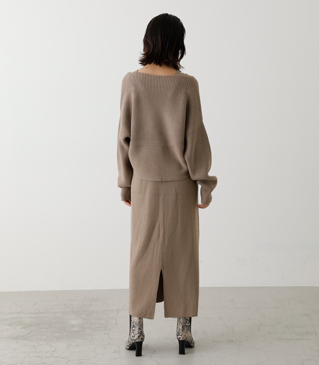 TWIST LAYERED ONE-PIECE/ツイストレイヤードワンピース 詳細画像 BEG 7
