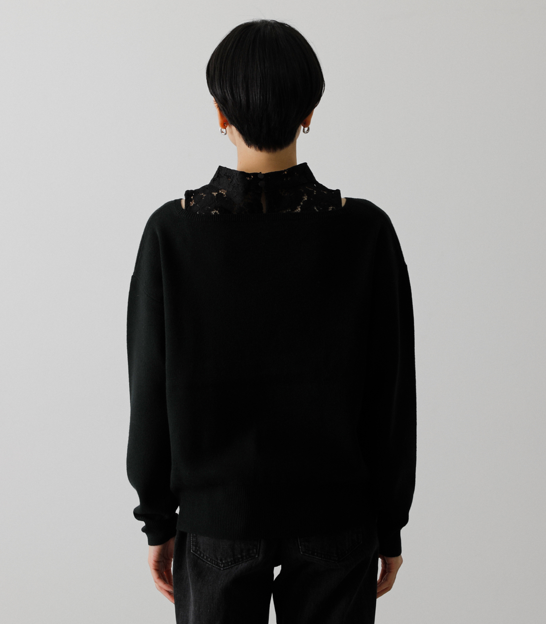 LACE DOCKING CACHE-COEUR TOPS/レースドッキングカシュクールトップス 詳細画像 BLK 7