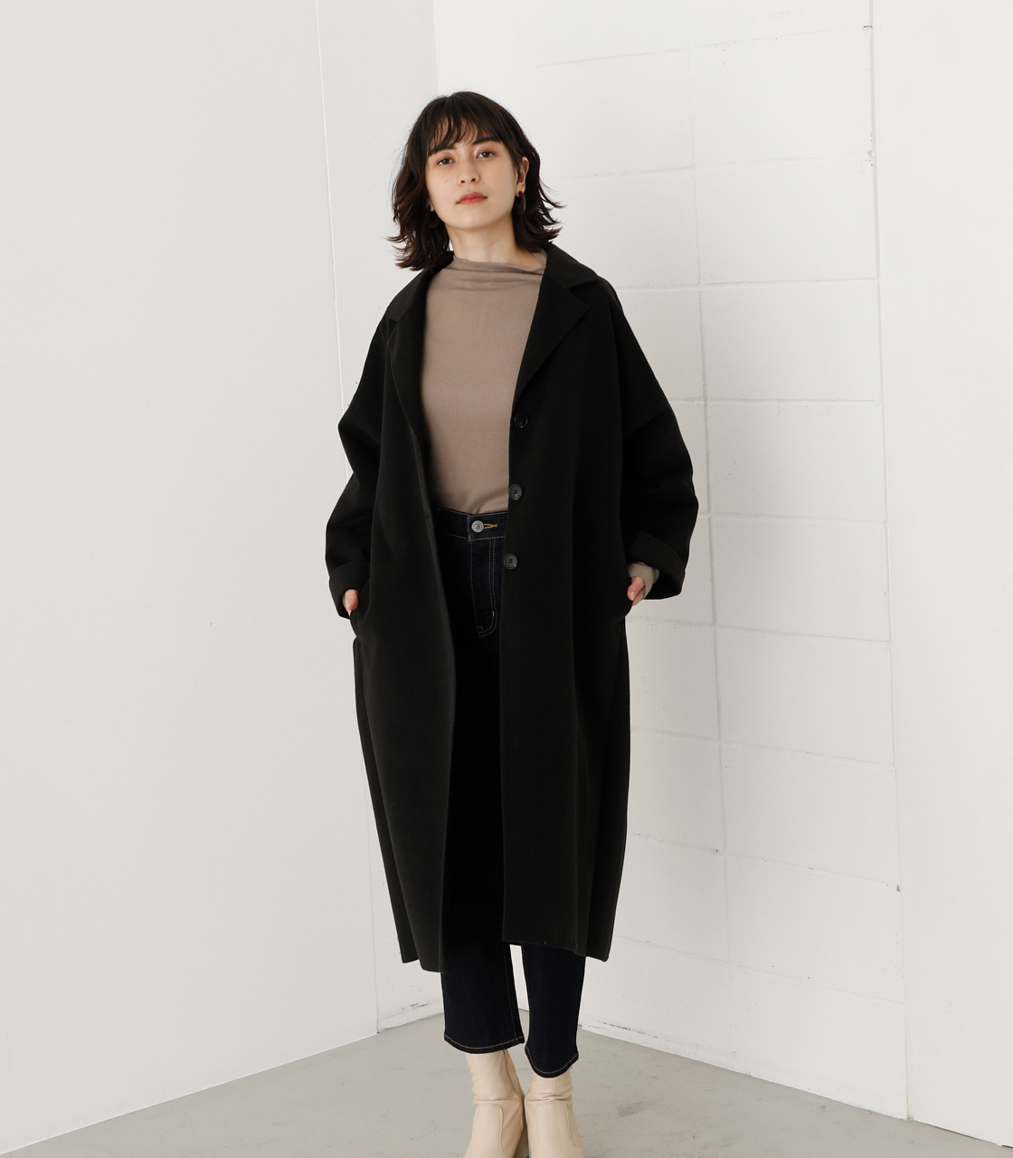 LOOSE CHESTER REVER COAT/ルーズチェスターリバーコート 詳細画像 BLK 1