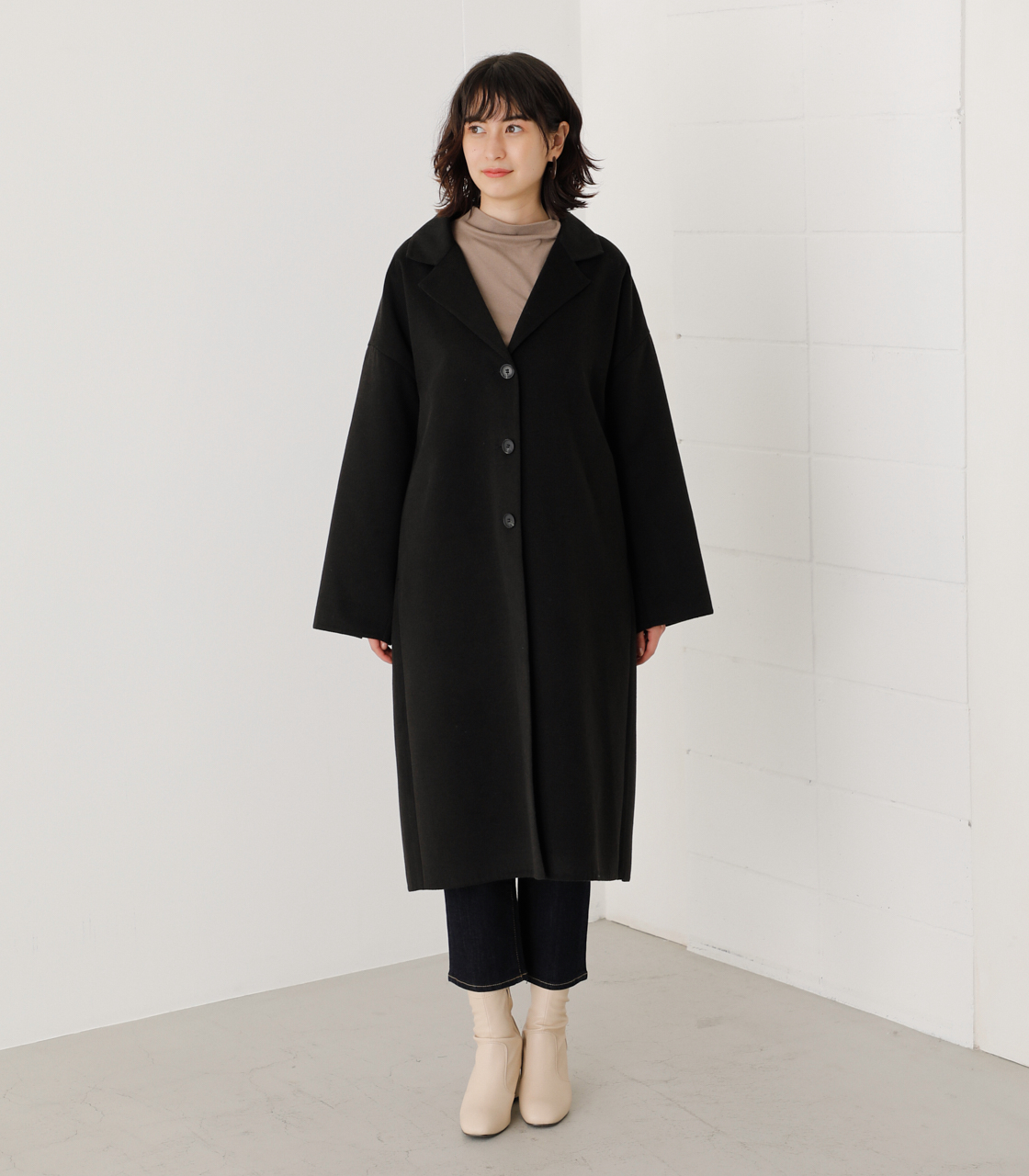 LOOSE CHESTER REVER COAT/ルーズチェスターリバーコート 詳細画像 BLK 4