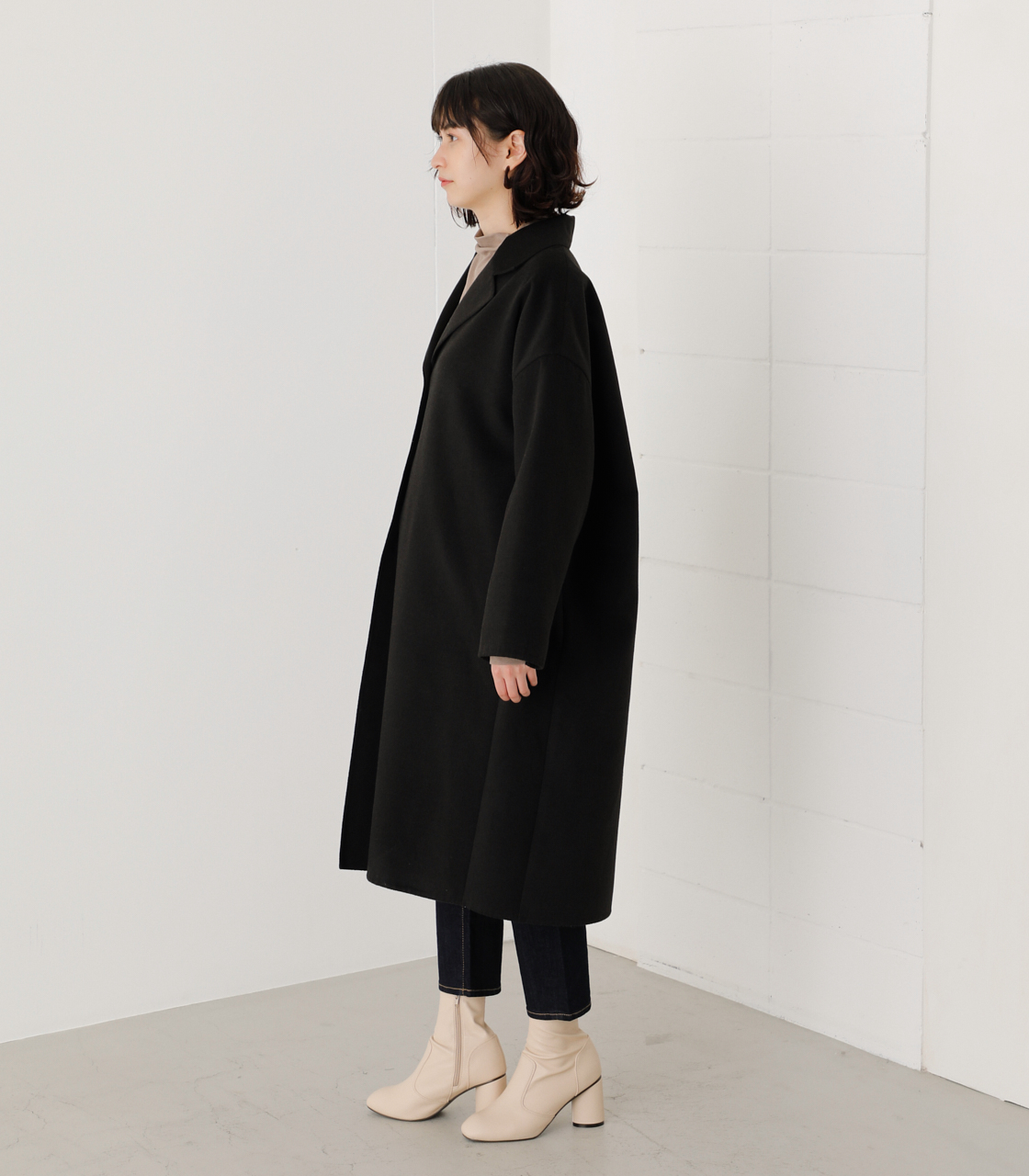 LOOSE CHESTER REVER COAT/ルーズチェスターリバーコート 詳細画像 BLK 5