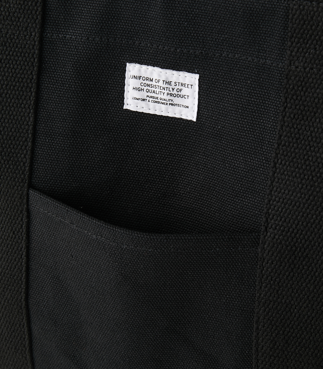 CANVAS TOTE BAG/キャンバストートバッグ 詳細画像 BLK 4