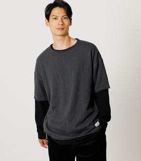 WAFFLE LAYER BIG TEE/ワッフルレイヤードビッグTシャツ