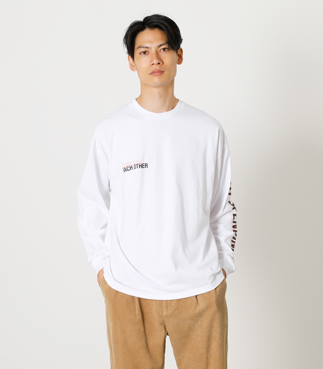 CARE FOR EACH OTHER PAIR TEE/ケアフォーイーチアザーペアTシャツ 詳細画像 WHT 1
