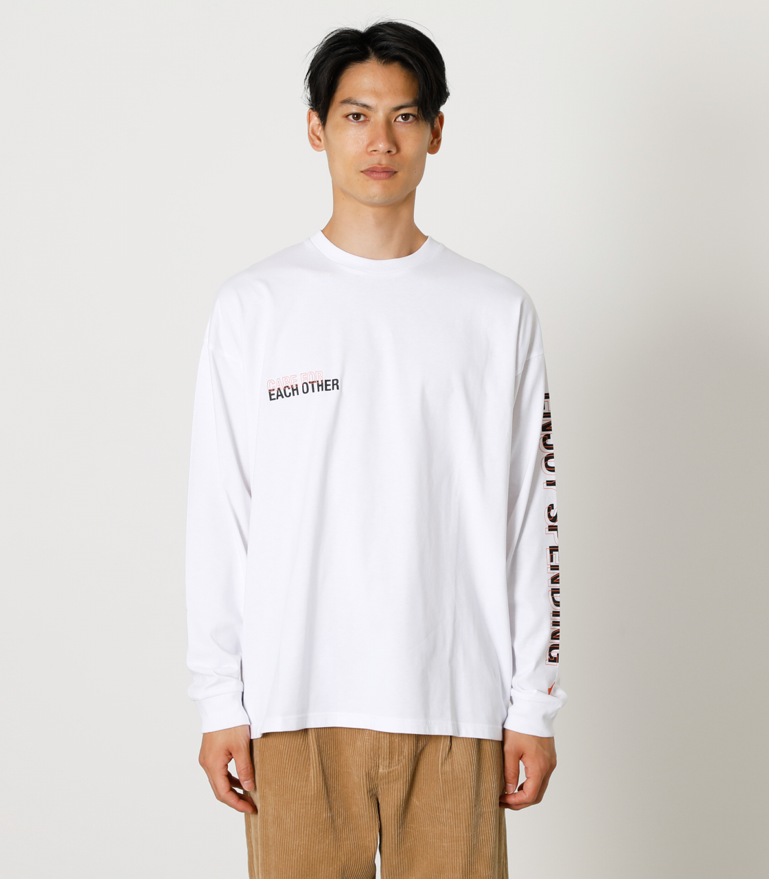 CARE FOR EACH OTHER PAIR TEE/ケアフォーイーチアザーペアTシャツ 詳細画像 WHT 5