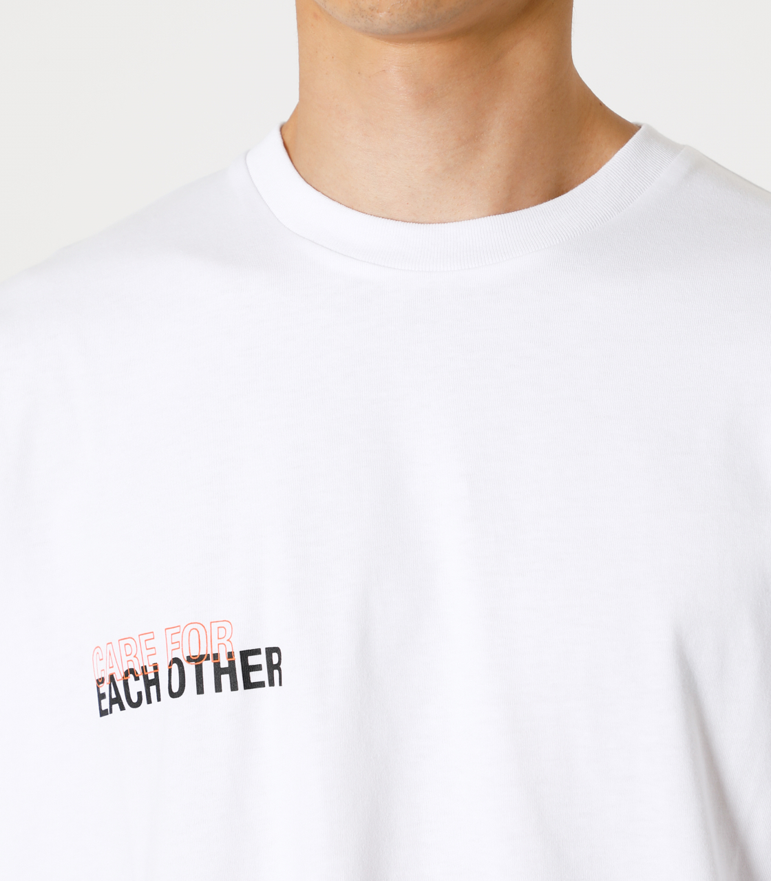 CARE FOR EACH OTHER PAIR TEE/ケアフォーイーチアザーペアTシャツ 詳細画像 WHT 8