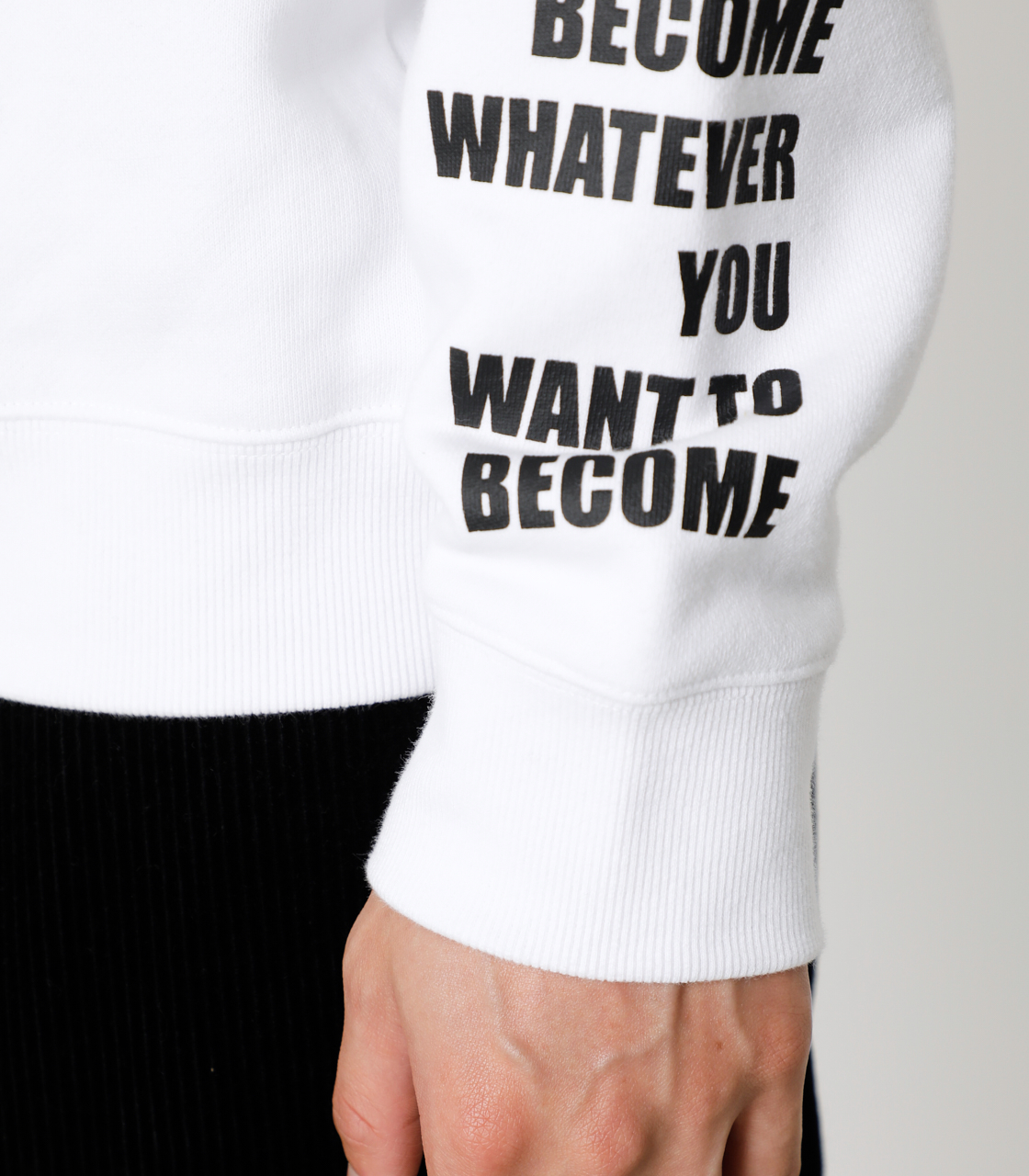 ONE ARM MESSAGE PULLOVER/ワンアームメッセージプルオーバー 詳細画像 WHT 10