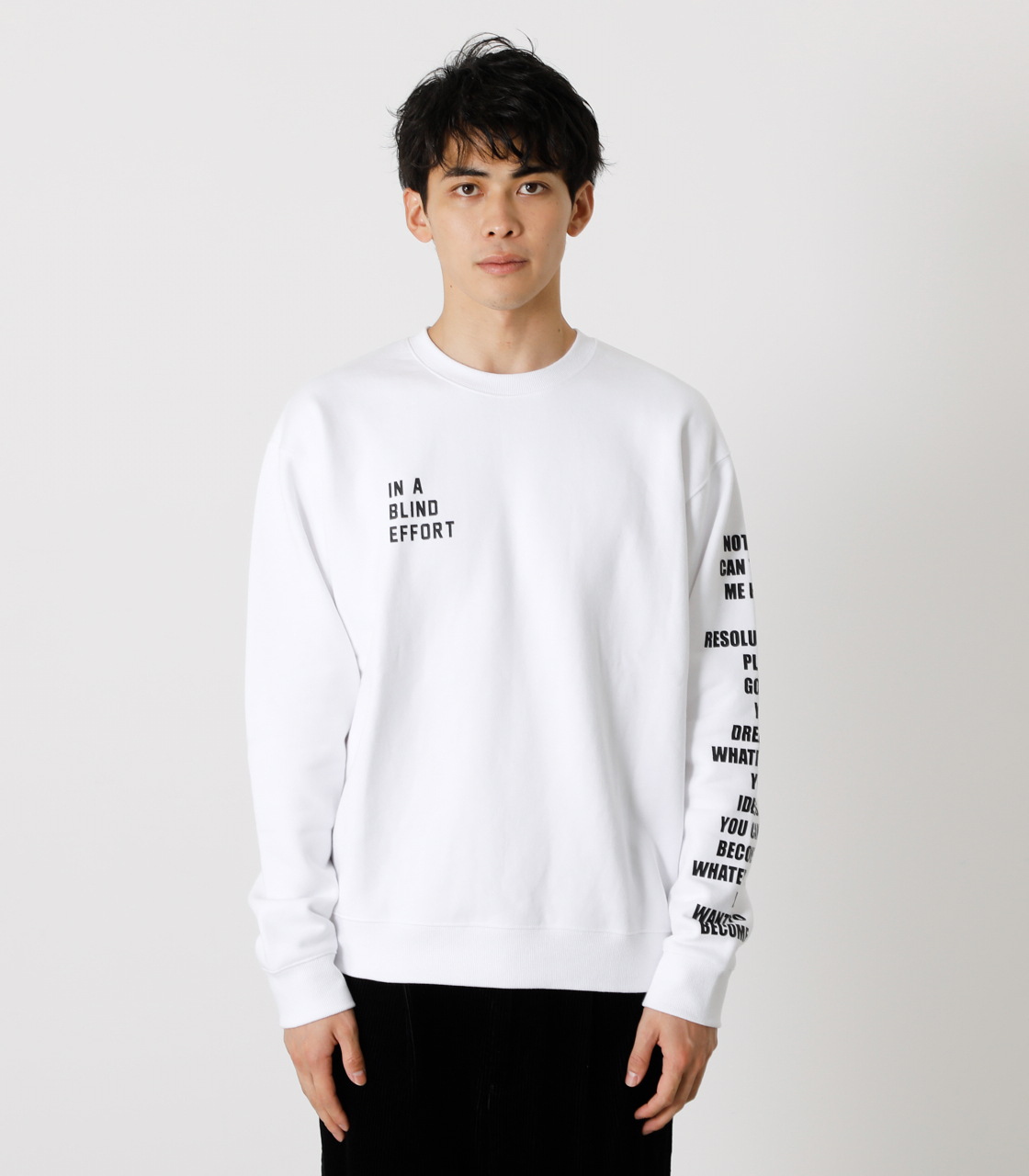 ONE ARM MESSAGE PULLOVER/ワンアームメッセージプルオーバー 詳細画像 WHT 5