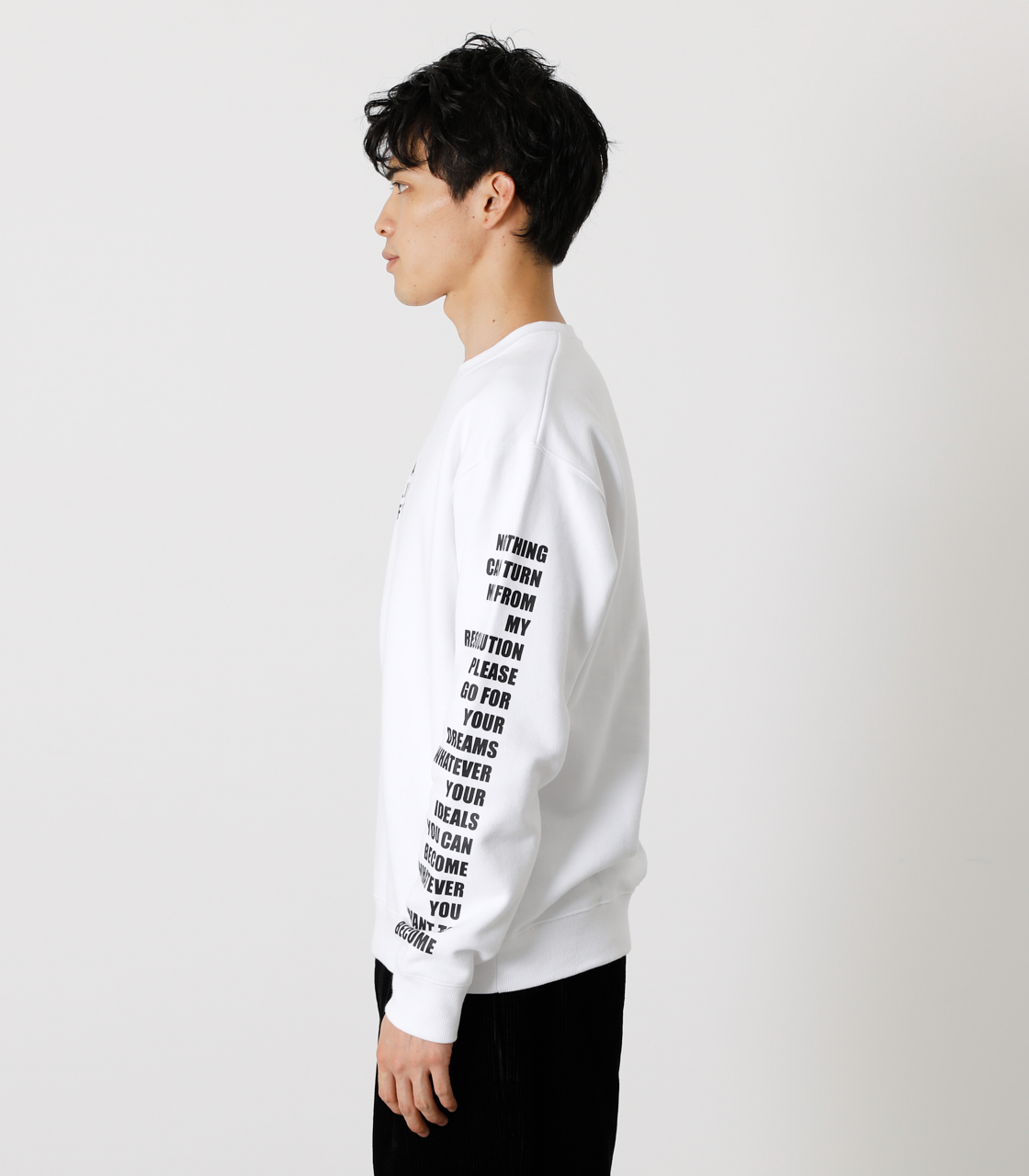 ONE ARM MESSAGE PULLOVER/ワンアームメッセージプルオーバー 詳細画像 WHT 6