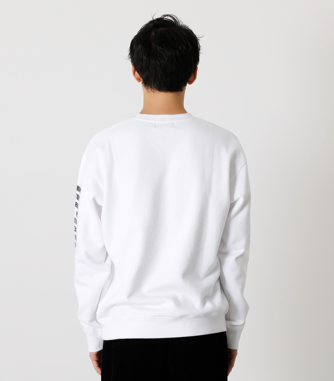 ONE ARM MESSAGE PULLOVER/ワンアームメッセージプルオーバー 詳細画像 WHT 7