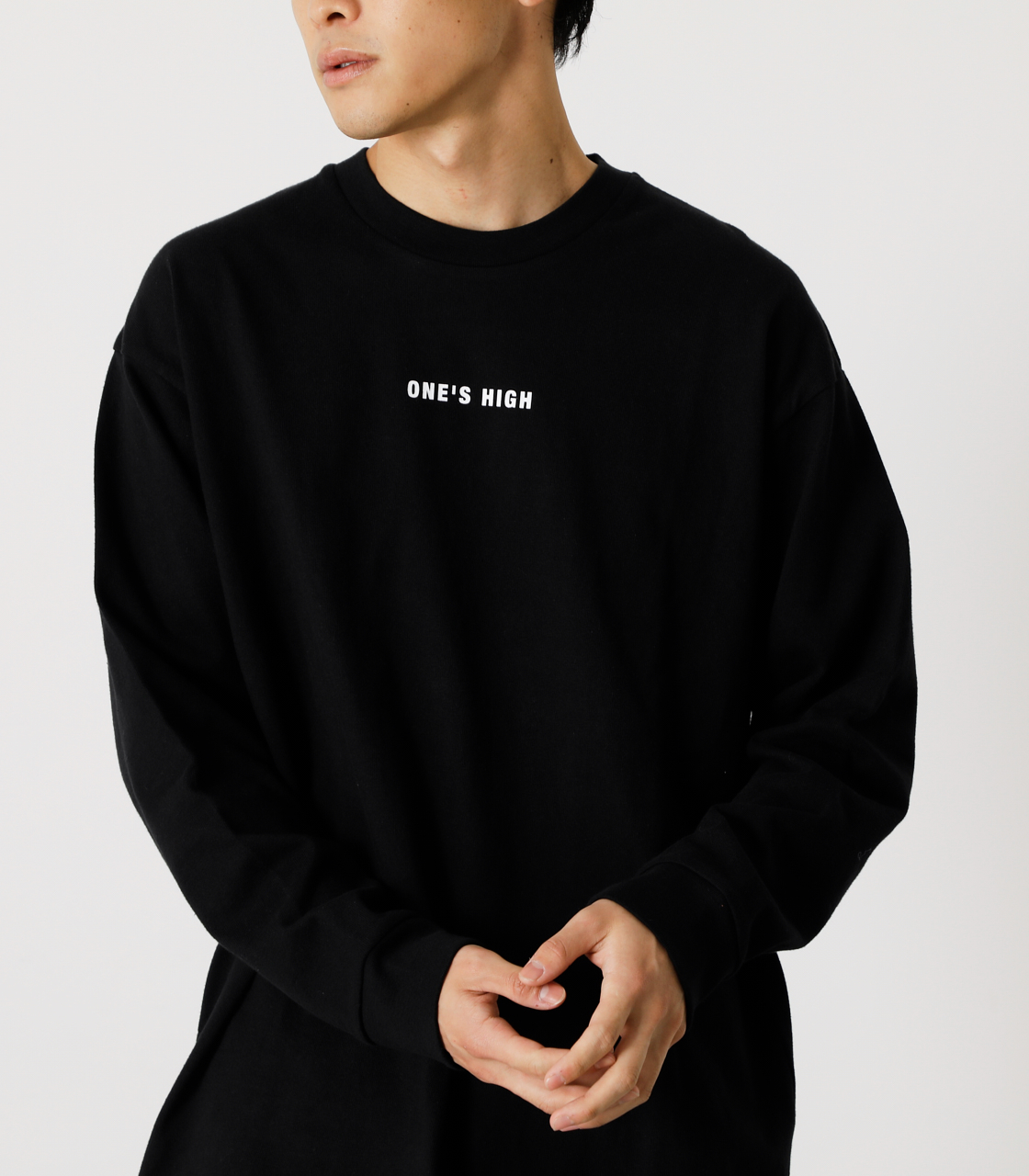 ONE'S HIGH LONG TEE/ワンズハイロングTシャツ 詳細画像 BLK 3