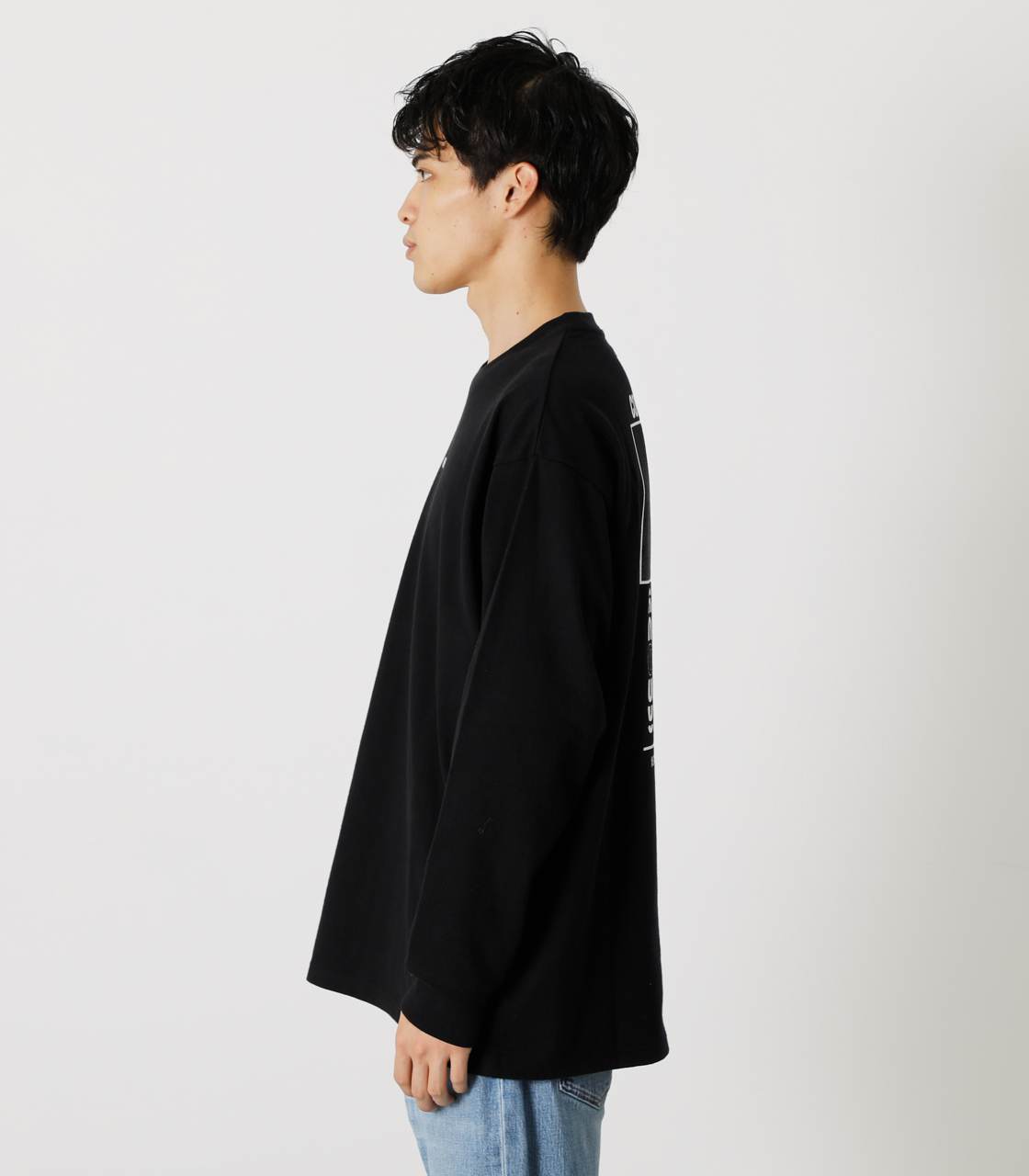 ONE'S HIGH LONG TEE/ワンズハイロングTシャツ 詳細画像 BLK 6