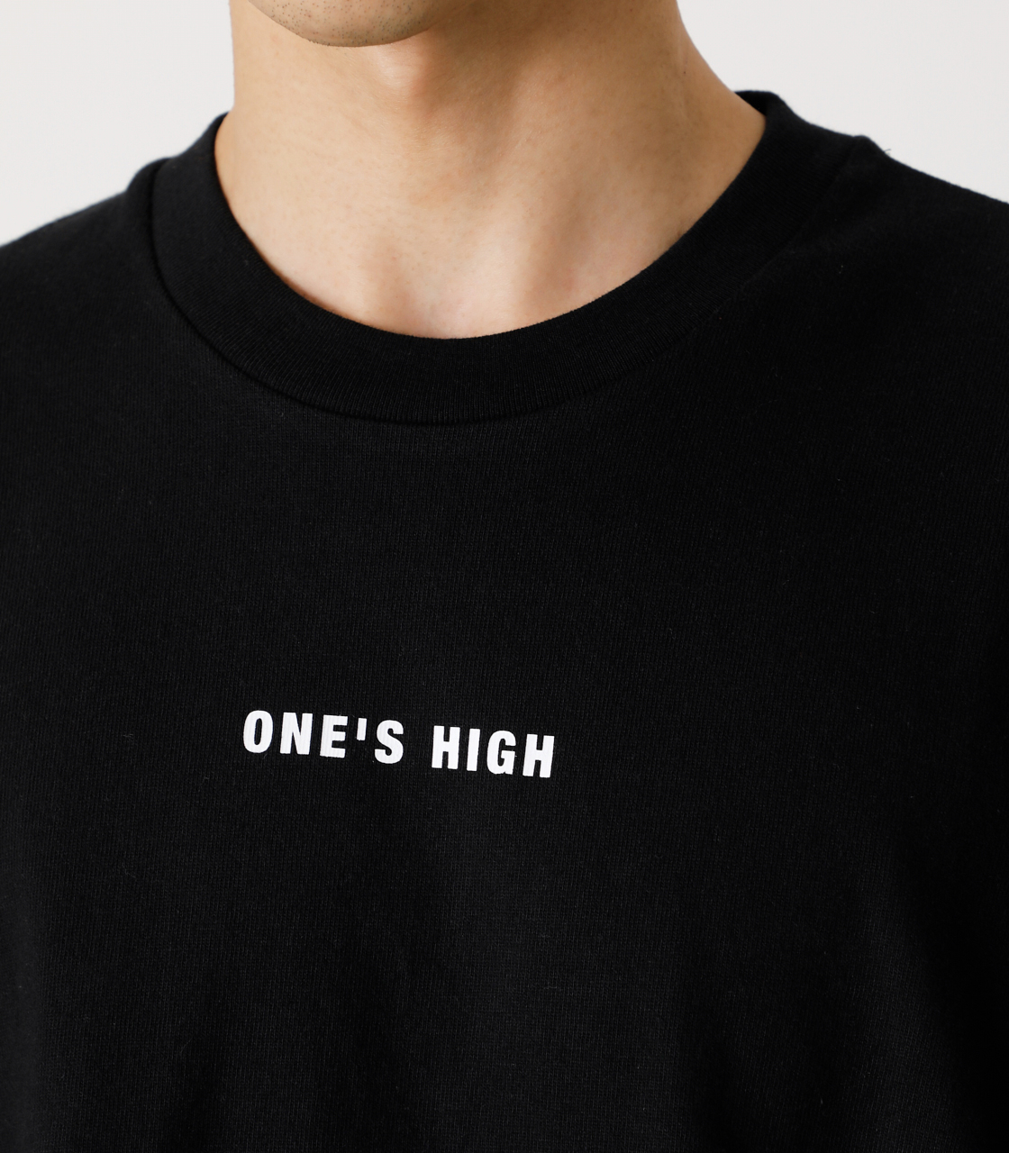 ONE'S HIGH LONG TEE/ワンズハイロングTシャツ 詳細画像 BLK 9