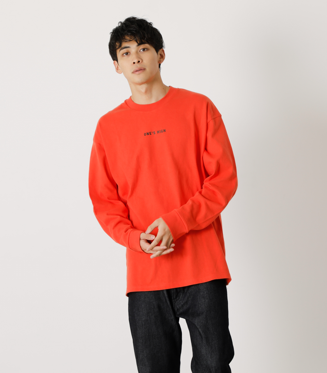 ONE'S HIGH LONG TEE/ワンズハイロングTシャツ 詳細画像 D/ORG 1