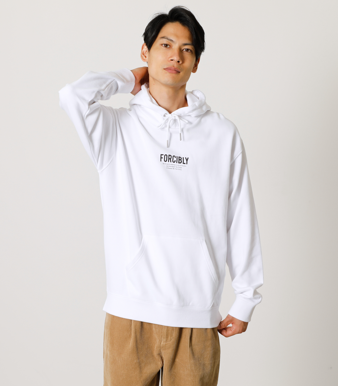 FORCIBLY HOODIE/フォーシブリーフーディ 詳細画像 WHT 1