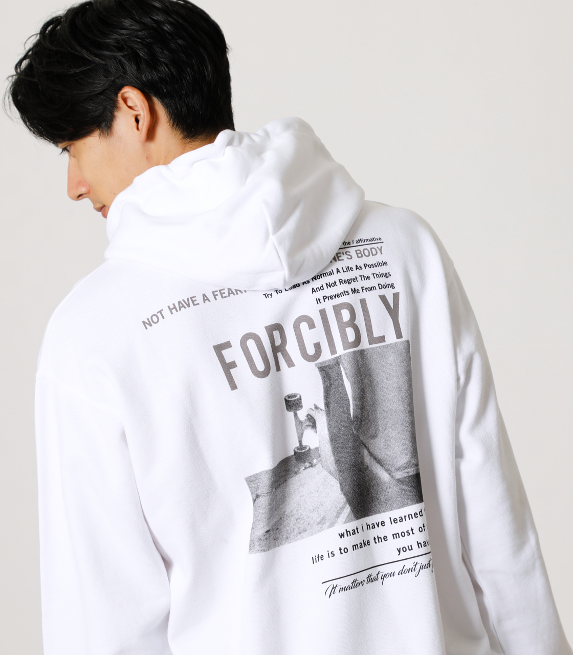 FORCIBLY HOODIE/フォーシブリーフーディ 詳細画像 WHT 2