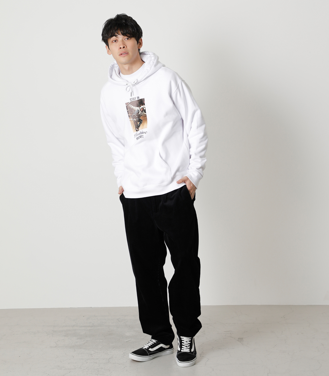 STAY IN POSITIVE HOODIE/ステイインポジティブフーディ 詳細画像 WHT 4
