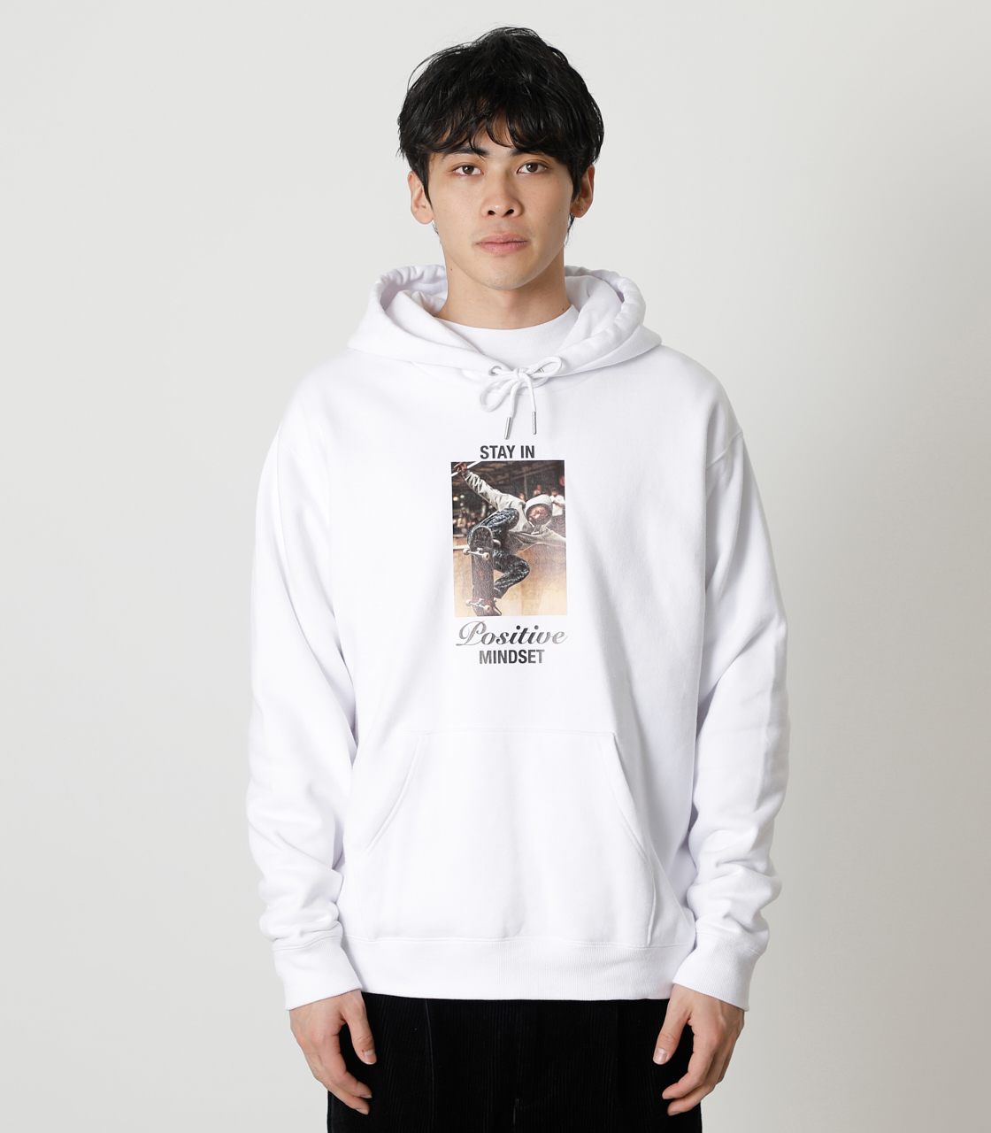 STAY IN POSITIVE HOODIE/ステイインポジティブフーディ 詳細画像 WHT 5