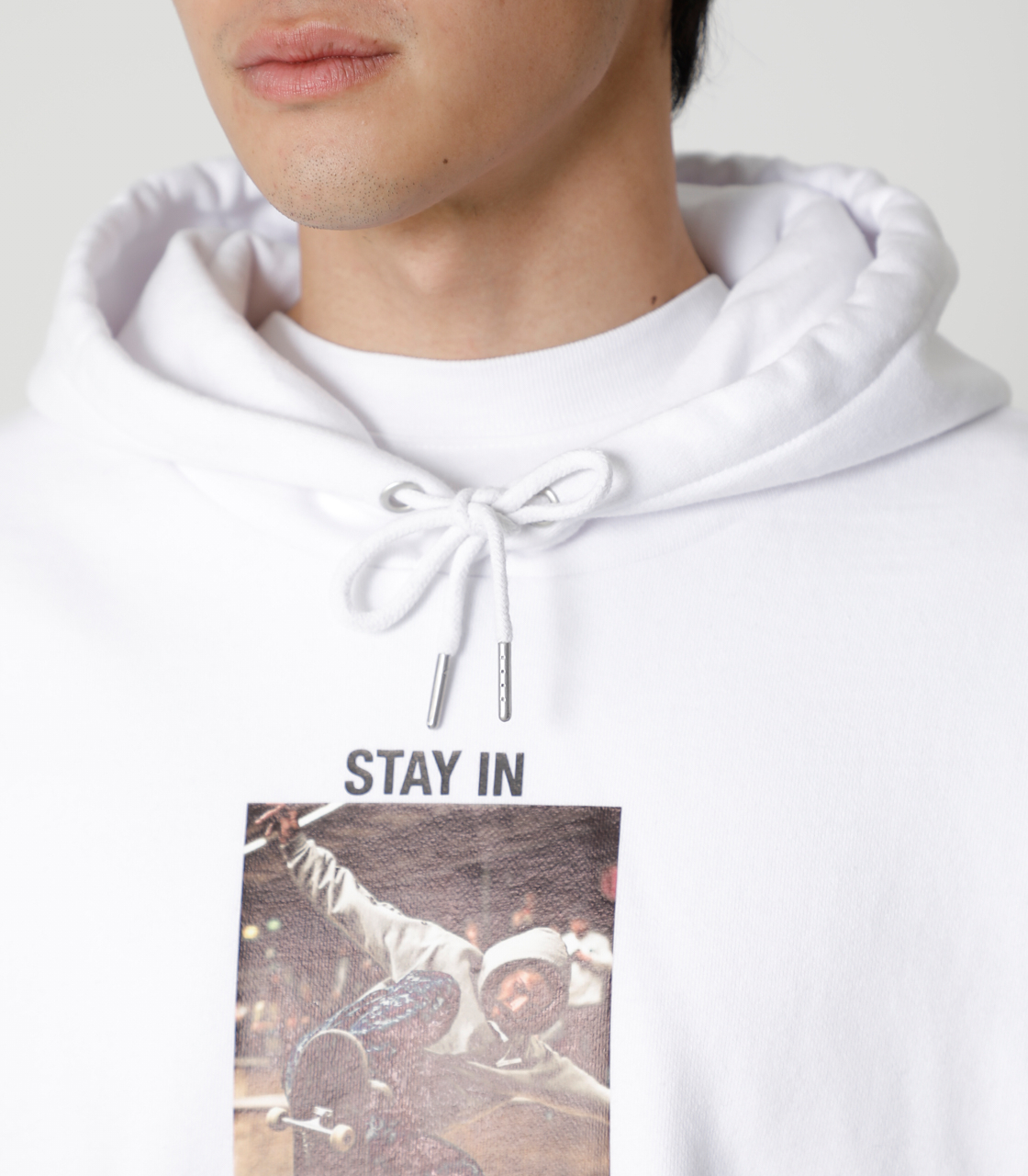 STAY IN POSITIVE HOODIE/ステイインポジティブフーディ 詳細画像 WHT 8