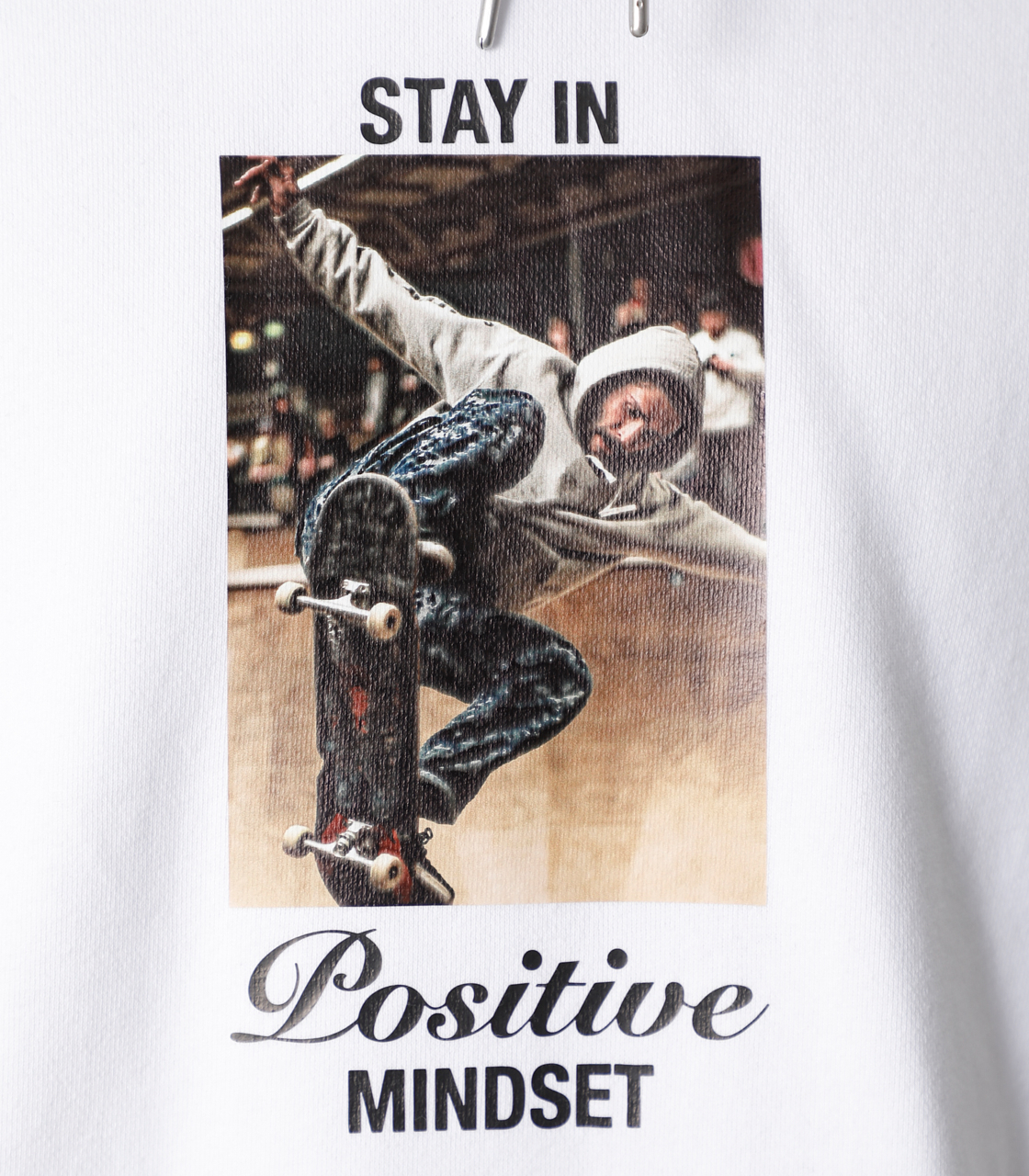 STAY IN POSITIVE HOODIE/ステイインポジティブフーディ 詳細画像 WHT 9