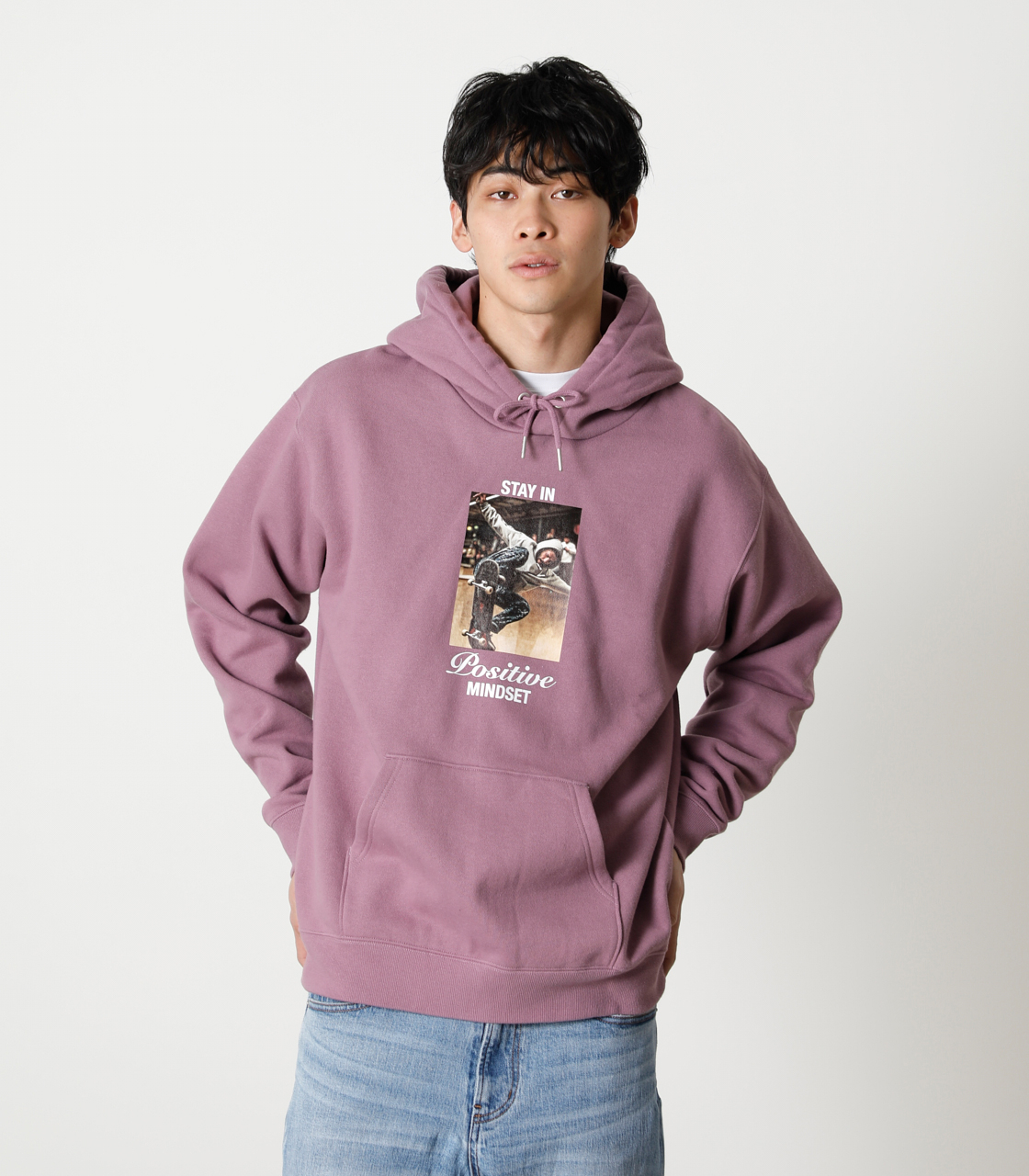 STAY IN POSITIVE HOODIE/ステイインポジティブフーディ 詳細画像 L/PUR 1
