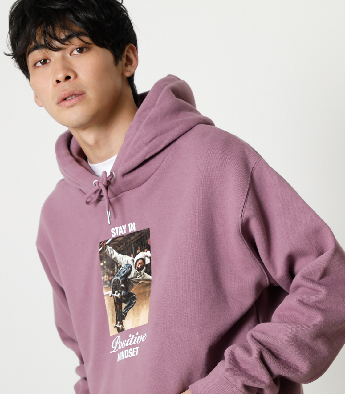 STAY IN POSITIVE HOODIE/ステイインポジティブフーディ 詳細画像 L/PUR 3