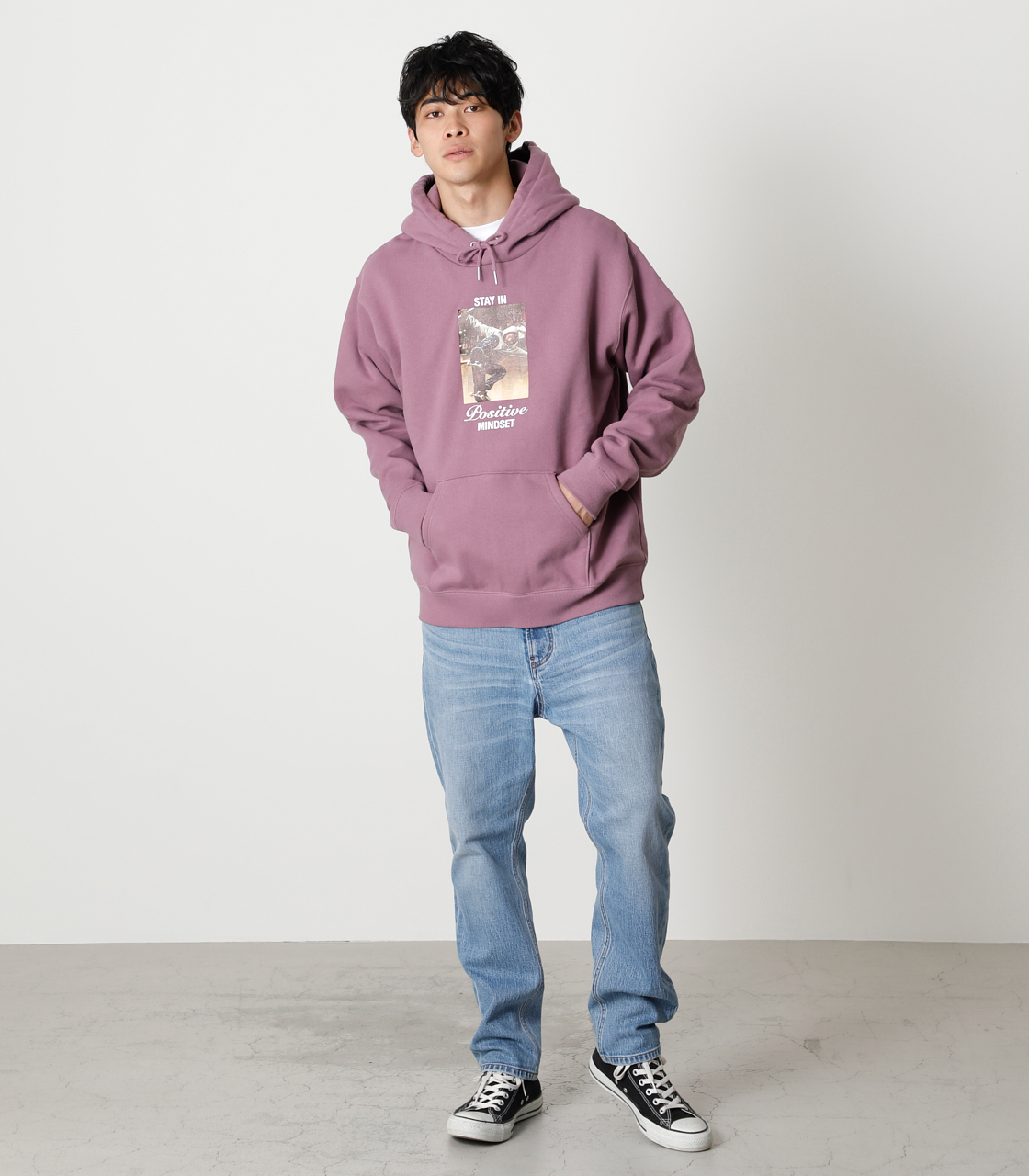 STAY IN POSITIVE HOODIE/ステイインポジティブフーディ 詳細画像 L/PUR 4