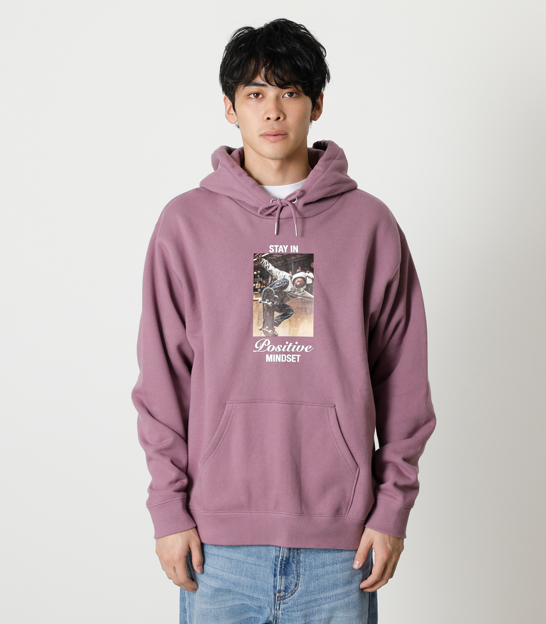 STAY IN POSITIVE HOODIE/ステイインポジティブフーディ 詳細画像 L/PUR 5