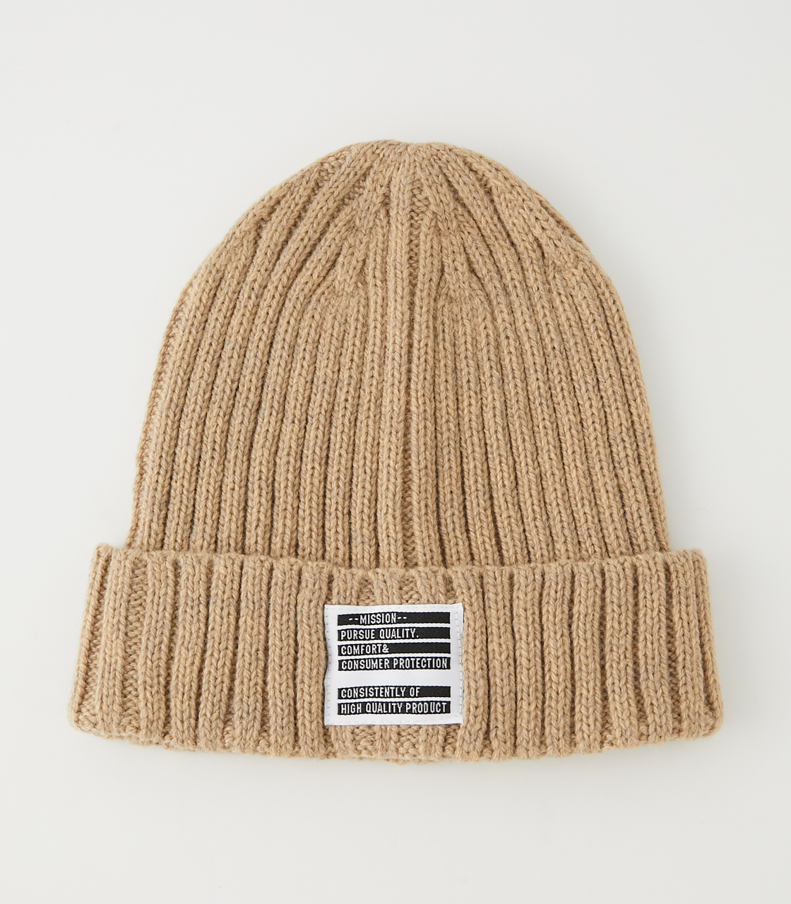 WAPPEN BASIC KNIT CAP/ワッペンベーシックニットキャップ 詳細画像 BEG 1