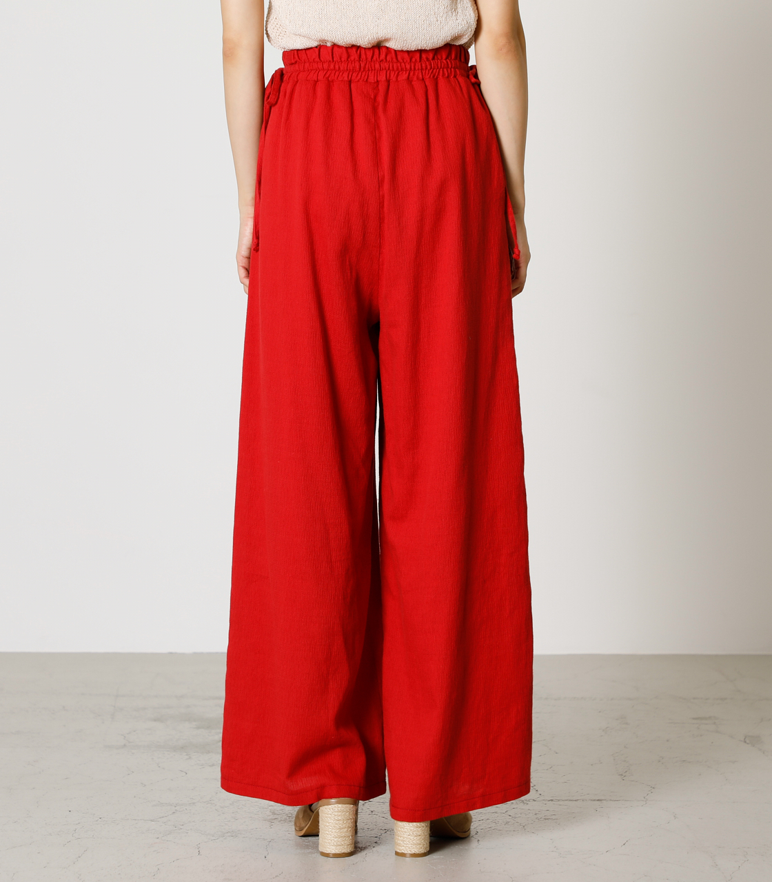LINEN TOUCH LOOSE PANTS/リネンタッチルーズパンツ 詳細画像 RED 6