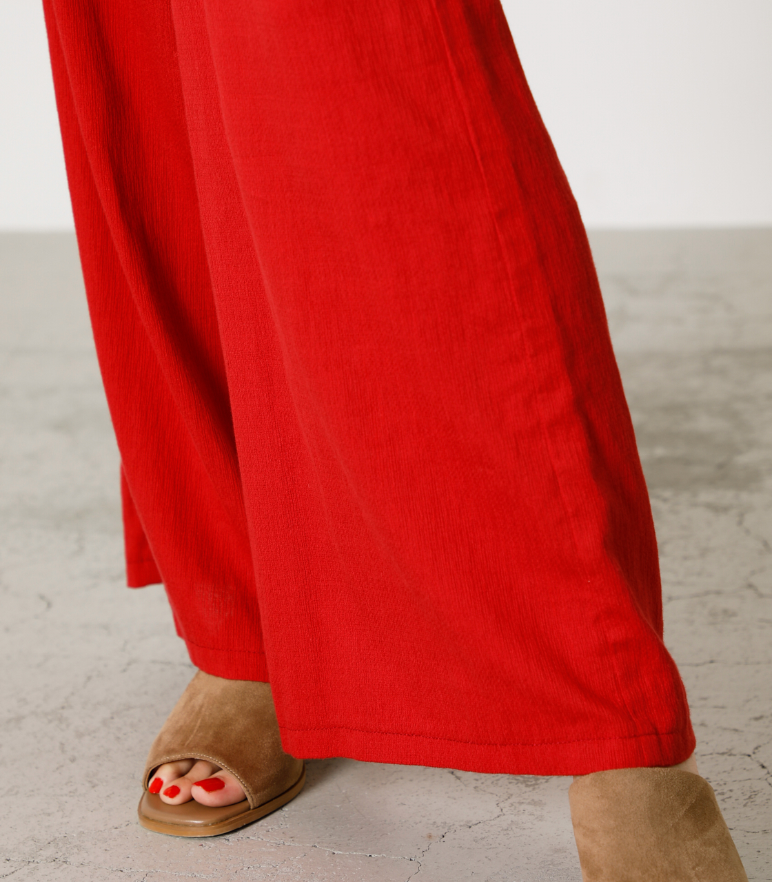 LINEN TOUCH LOOSE PANTS/リネンタッチルーズパンツ 詳細画像 RED 9